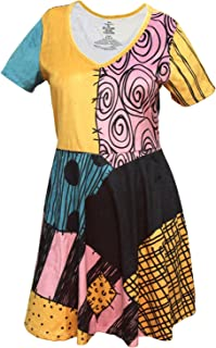 The Nightmare Before Christmas Juniors' I Am Sally Velvety Rag Doll Cosplay Costume Dress