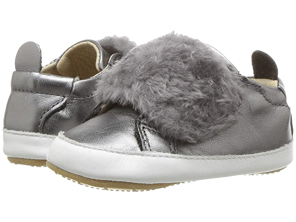 Old Soles Bambini Pet (Infant/Toddler) (Rich Silver/Snow/Dark Silver) Girl