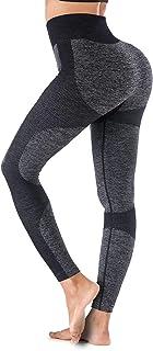 YIANNA High Waist Yoga Pants for Women Tummy Control,Seamless Leggings Pants Butt Lift Tights