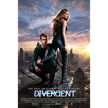 Amazon Com World Mall Group Divergent 2014 12x18 Movie Poster Thick Shailene Woodley Kate Winslet Theo James Posters Prints