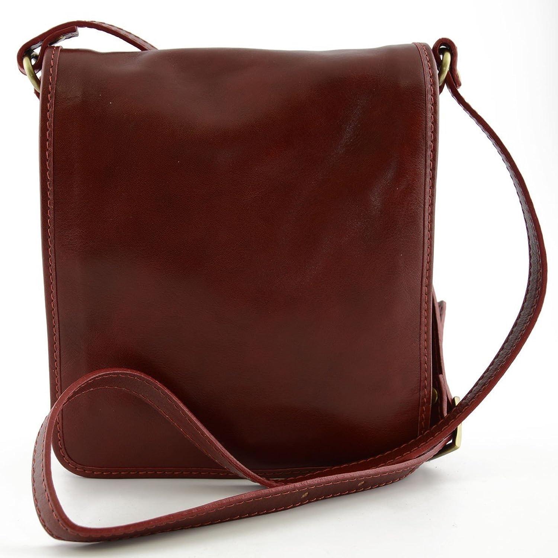 Herren Herren Herren Ledertasche Farbe Rot - Italienische Lederwaren - Herrentasche B01GCU8N3W 71e14c