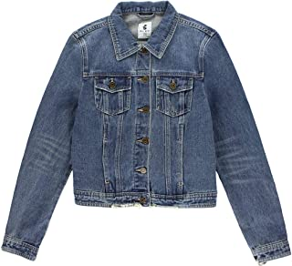 BLBD Womens Distressed Denim Jacket
