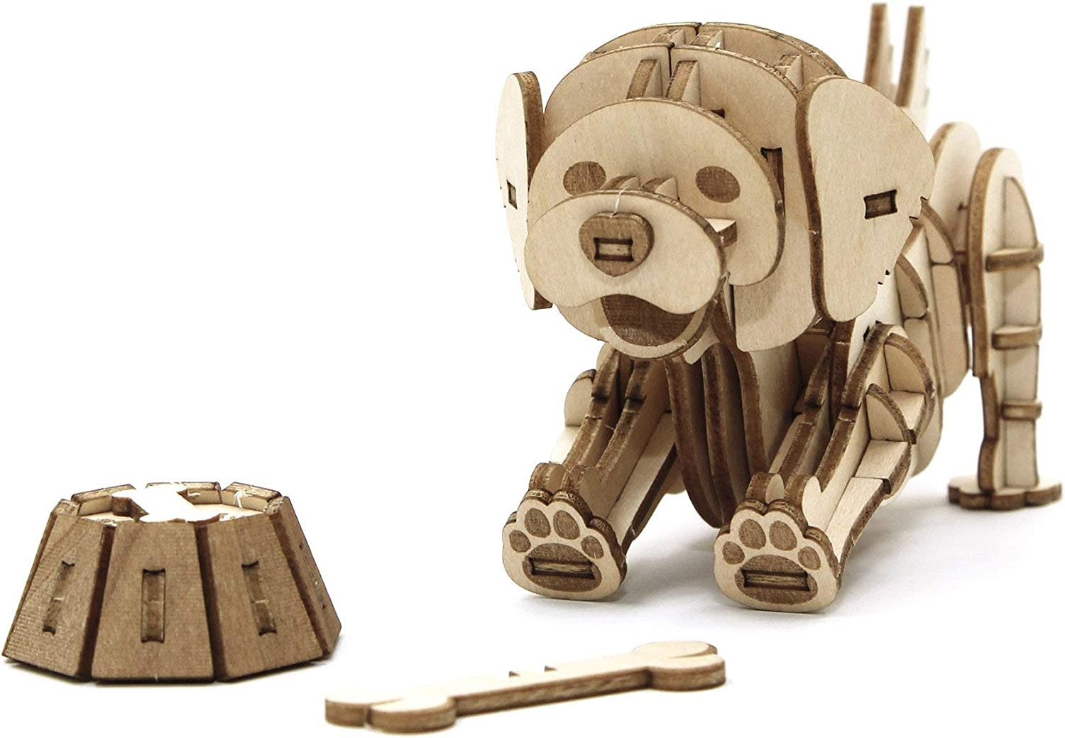Duck Team Green JIGZLE 2mm Plywood Wooden 3D Puzzle for Teens and Adults Mechanical Models Kits Pets Collection