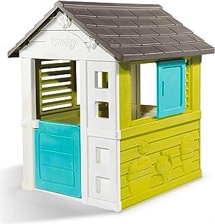 Smoby - Maison Pretty - Cabane de Jardin Enfant - 2 Fenêtres avec Persiennes - 810710