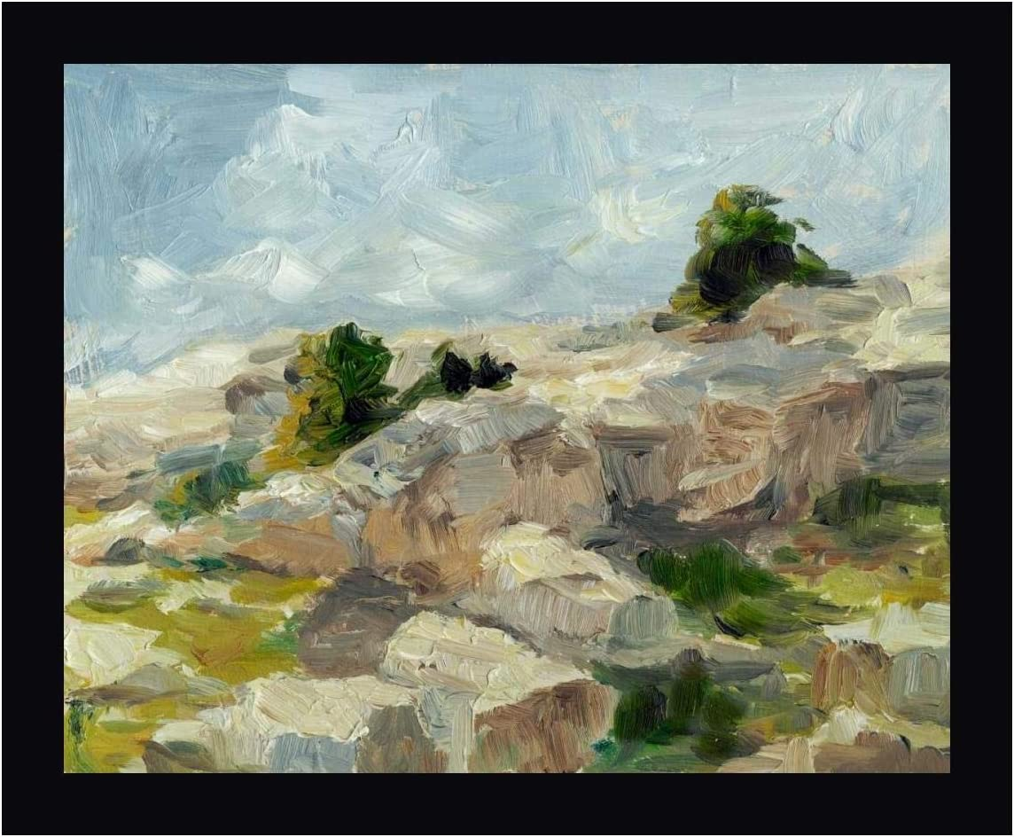 Amazon Com Impasto Mountainside I By Ethan Harper 19 X 24 Canvas Art Print Gallery Wrapped Ready To Hang Posters Prints