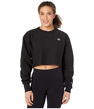 Champion LIFE Reverse Weave(r) Cropped Cut Off Crew (Black) Women