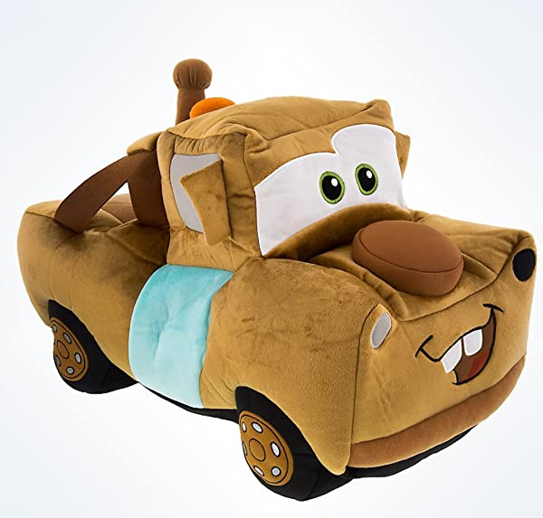 Disney Parks Tow Mater And Wheel Tire Reversible Flip Plush Pillow Doll NEW