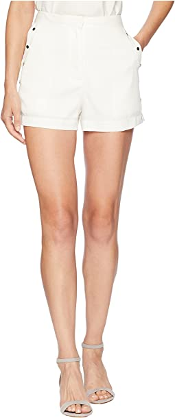 High-Waist Shorts w/ Side Studs