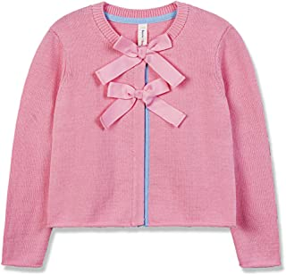 Girls Sweater Little Girl Cardigan with Front Bows Long Sleeve Knitted Outwear