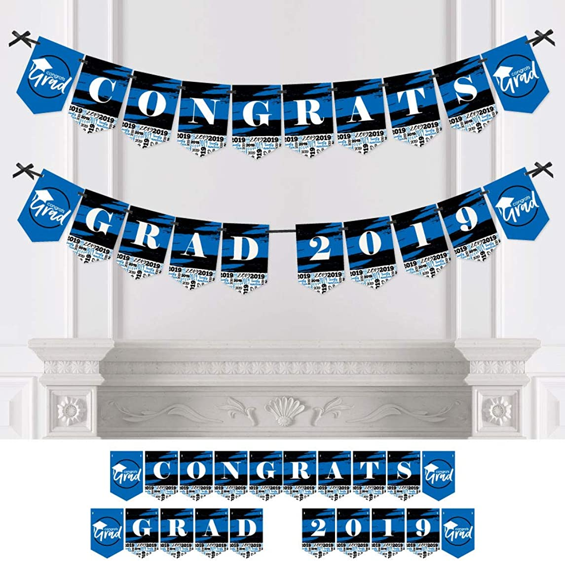 Blue Grad - Best is Yet to Come - Royal Blue Graduation Party Bunting Banner - Party Decorations - Congrats Grad 2019