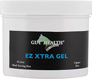 Gut Health Horse Paste Supplement - EZ Xtra Gel (1 Quart) - Hindgut Aid for Horses That Promotes Fuller Coat, Hoof Growth,...