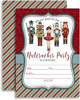 Nutcracker Ballet Birthday Party Invitations, 20 5