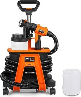 Paint Sprayer, HVLP 8.5Amp Paint Gun 1100ml/Min, 3 Patterns, 3 Copper Nozzle Sizes and 2 X 1200ml Detachable Containers with Spray Width Lever, Adjustable Valve Knob, Retractable Handle