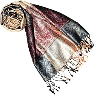 Lorenzo Cana Luxus Pashmina Damenschal Schaltuch jacquardgewebt 100/% Seide 70 cm x 190 cm Paisleymuster Seidenschal Seidentuch Seidenpashmina 7820188