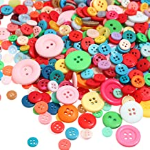 1000 Peces Buttons Round Craft Resin Buttons for Crafts Sewing Decorations, 2 Holes and 4 Holes (Multi-Color)