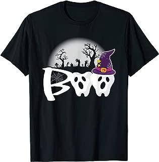 Halloween Dentist Boo Ghost & Witch Teeth - Funny Dental T-Shirt
