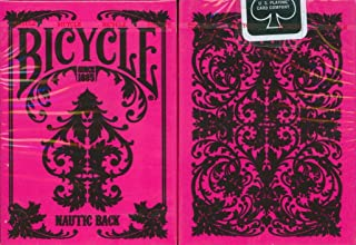 Bicycle Nautic Back Playing Cards in Pink