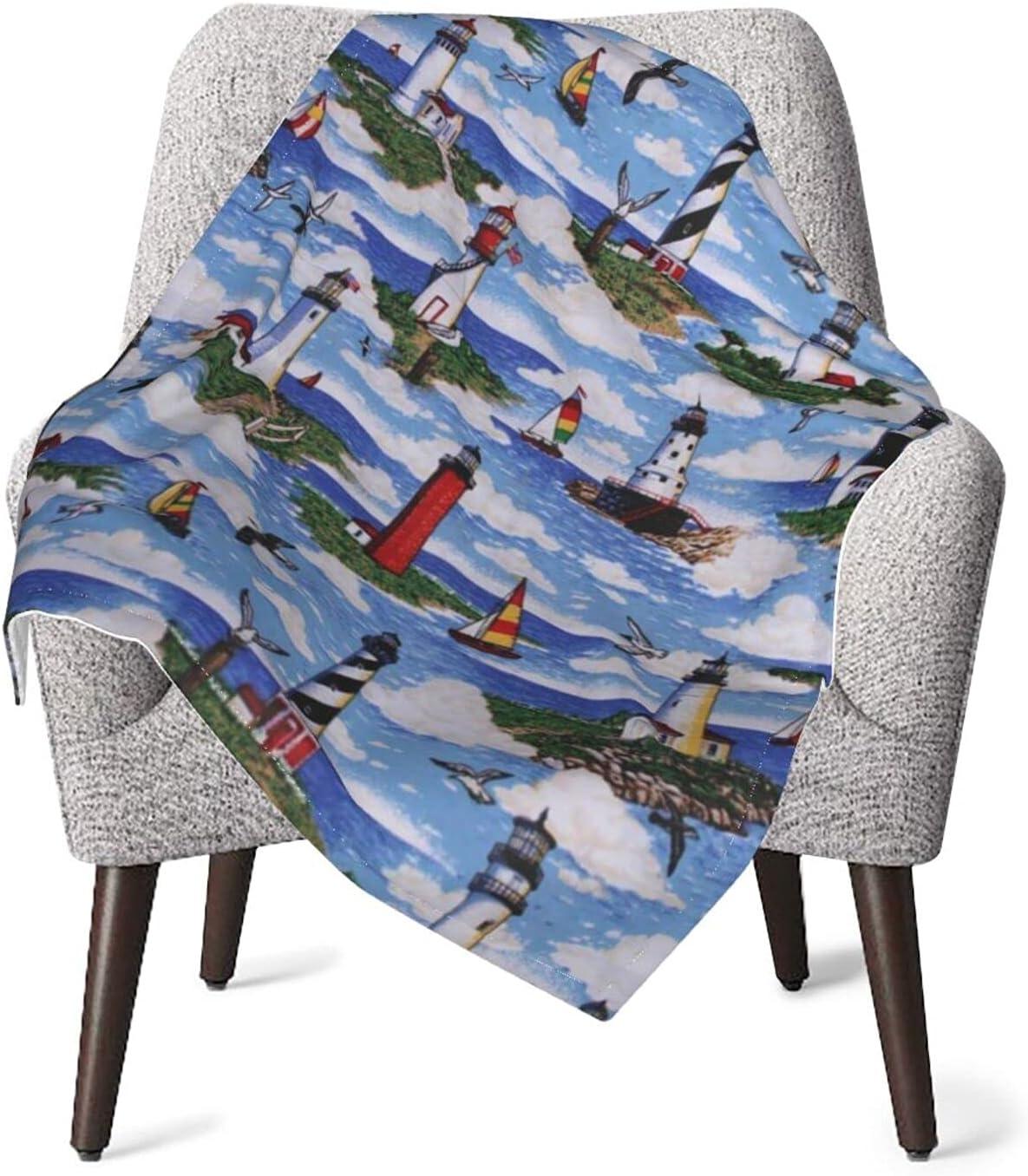 JZDACH Unisex Baby Receiving Lighthouses Superlatite Big Sable Blanket High quality Scene