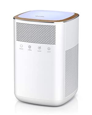 Air Purifier VALKIA HEPA Air Purifier for Home Pets with True 3M HEPA, Activated Carbon Filter, LED Night Light, Sleep Mode, Touch Button, Ultra Quiet Air Cleaner for Large Room Bedroom Office Kitchen