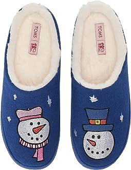 Save the Children Royal Blue Felt/Snow Man Embroidery