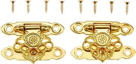 37x24mm Box Klink Sluitingen Antieke Alloy Jewelry Box hangslot HASP Locked Bronzen Bloem Houten Wine Gift Box Handbag Par...