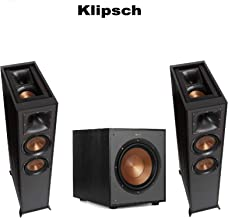 (1 Pair) Klipsch R-625FA Powerful Detailed Floorstanding Home Speaker Set of 1 Black + Klipsch R-100SW Powerful Detailed Home Speaker Set of 1 Black Bundle