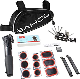 Sahoo Bicycle Bike Tyre 14 in 1 Multi-use Repair Tools Kits Bag with Mini Pump