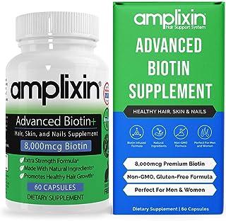 Amplixin Advanced+ Biotin Supplement - Hair Vitamins For Faster Hair Growth, Stronger Nails & Clearer Skin - Hair Loss Pre...