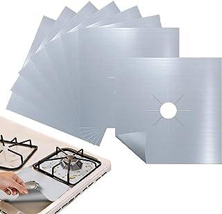 Rubik 8pcs Gas Stove Burner Covers, Non-Stick Gas Range Protectors Reusable Aluminum Foil Cover Liner Mat Pad - Dishwasher...