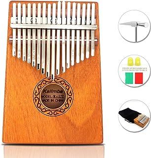 Portátil 17 Key Thumb Piano de Alta Calidad Caoba Professiona Marimba Instrumento con Martillo de Afinación y 7 Accesorios Para Amantes de la Música Principiantes