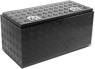 36 inchesx18 inchesx16 inches Aluminum Pickup Truck Bed Trailer Key Lock Storage Tool Box (Black)