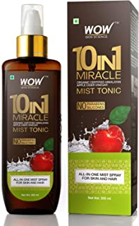 WOW Apple Cider Vinegar Facial Toner for Face, Hair, Body - Natural Hair & Skin Care Mist - Hydrating Rose Water Spray for...