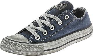 Converse, Uomo, Chuck Taylor All Star Ox Canvas LTD, Tela, Sneakers, Blu, 38 EU