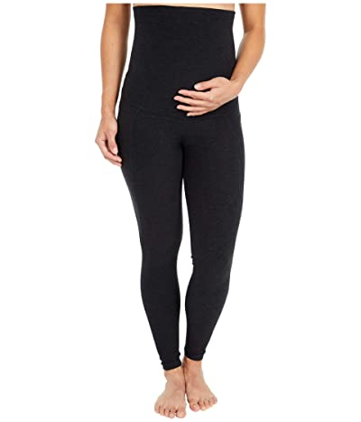 Beyond Yoga Maternity Spacedye Out of Pocket High-Waisted Midi Leggings (Darkest Night) Women