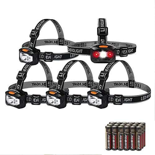 high quality EverBrite outlet sale 5-pack Headlamp LED 150 Lumens Battery Operated Super Bright with sale 2 Red Lights AAA Batteries Included outlet online sale