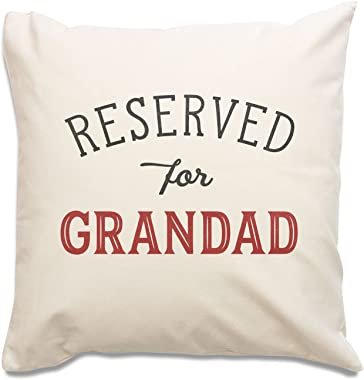New - Reserved for Grandad Cushion Cover - Gift Present Xmas Birthday
