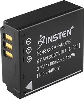 Insten Compatible with PANASONIC CGA-S007A/1B Lumix DMC-TZ5 BATTERY X2