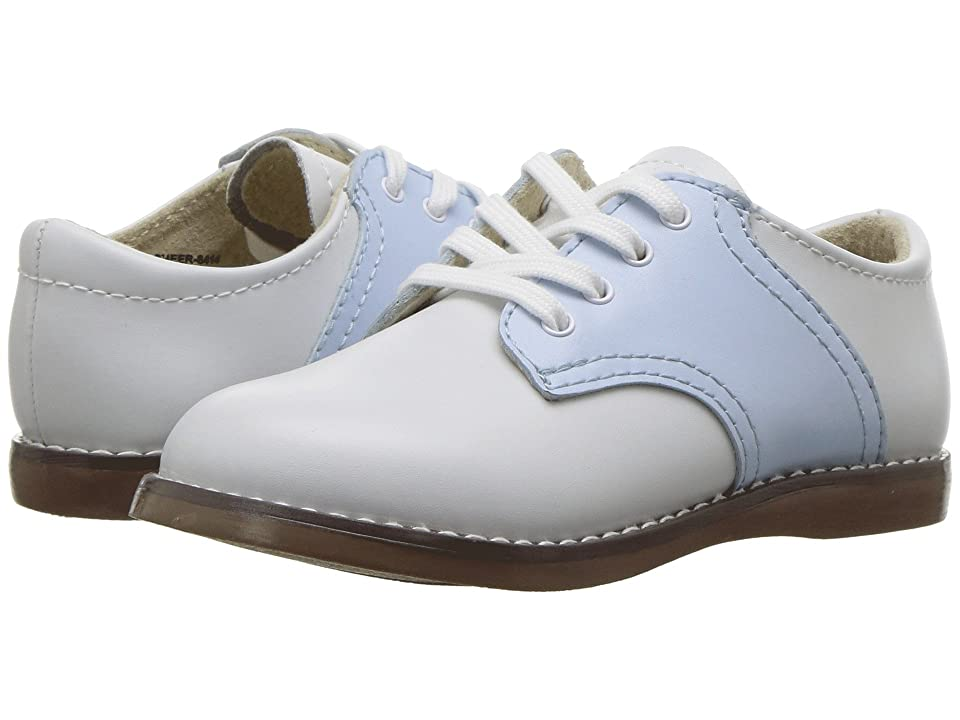 FootMates Cheer 3 (Infant/Toddler/Little Kid) (White/Light Blue) Kids Shoes