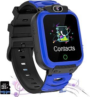 Kids Smart horloge Telefoon met Muziek En Games Voor Jongens Meisjes 1.57 'HD Touchscreen Smart horloge Met Twee Manier Ca...