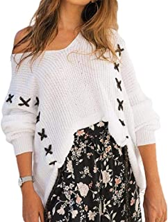 Women Cold Shoulder Sweater Boat Neck Long Sleeve Fitting Sexy Sweatshirt Pullover