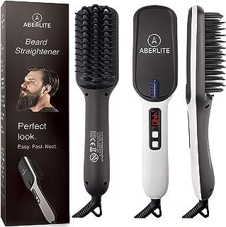 (UPGRADED) Aberlite MAX - Beard Straightener for Men - Beard Straightening Heat Brush Comb Ionic - 5 Heat Settings Up to 4...