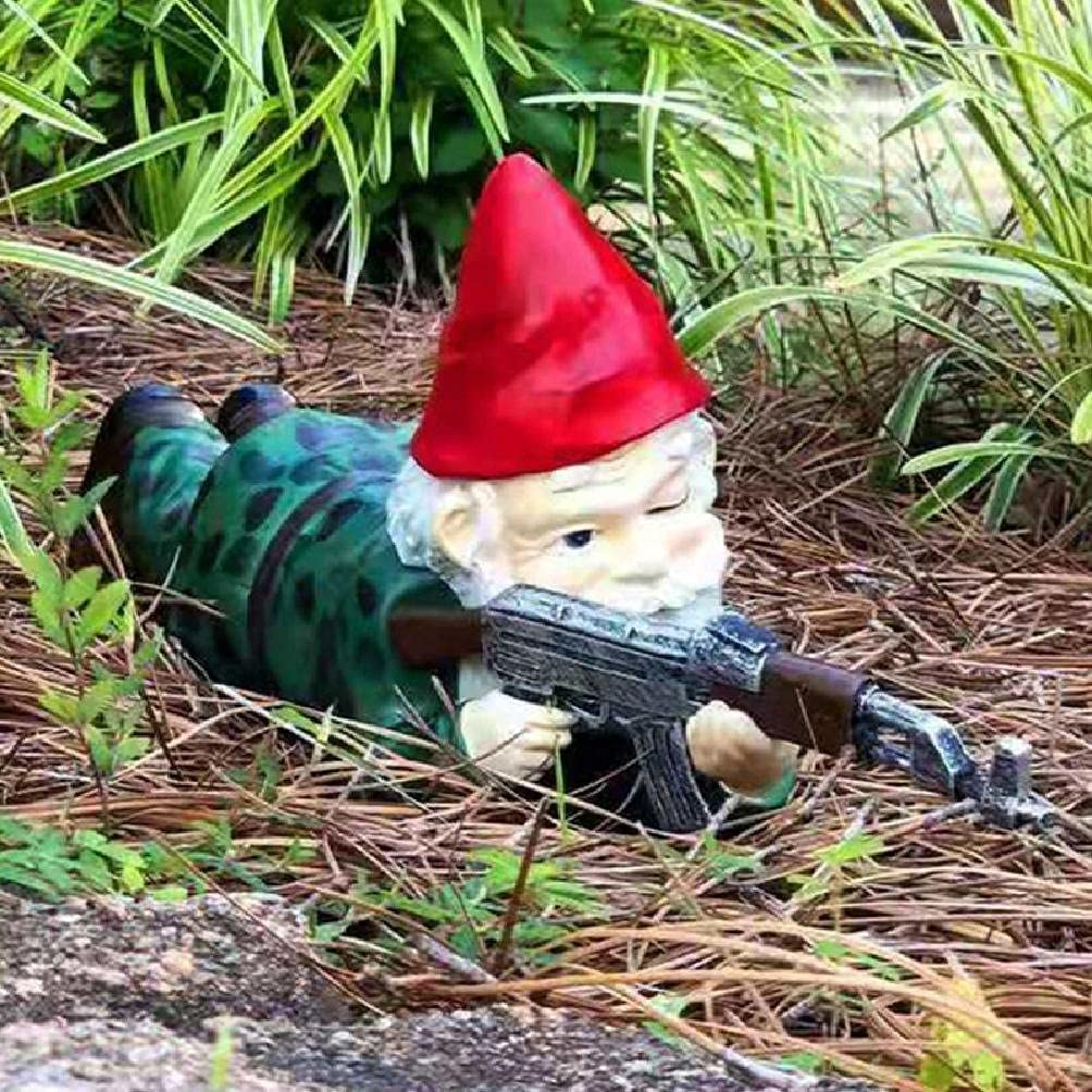 TPTPMAY Funny Quantity limited Army Gnome Garden Outdoor Indoor Figu NEW before selling Statue