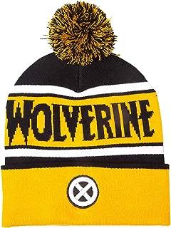 Wolverine Beanie Bobble Hat X Men Logo Official Yellow