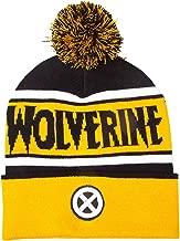 Marvel Wolverine Beanie Bobble Hat X Men Logo Official Yellow