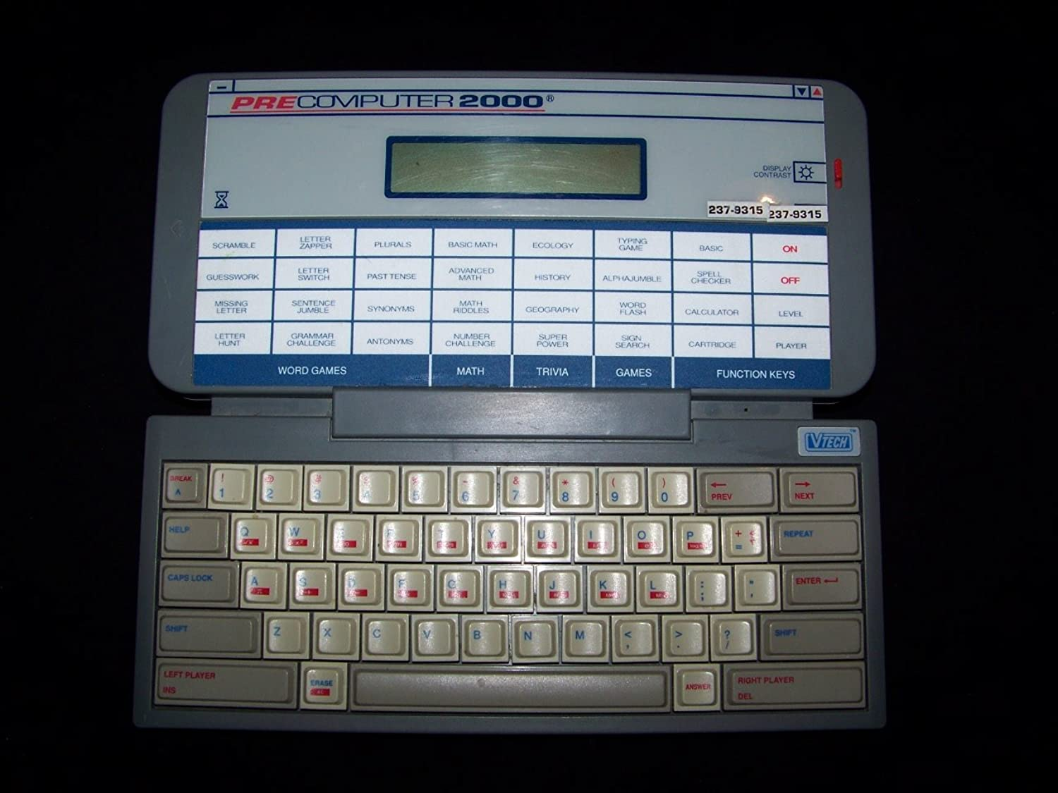 Pre Computer 2000 Electronic Toy 1992 By Vtech