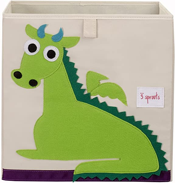 3 Sprouts Organizer Container Cube Storage Box For Kids Toddlers Dragon