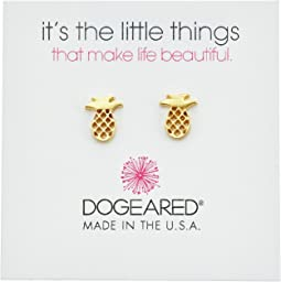 Dogeared - It's The Little Things: Open Pineapple Earrings