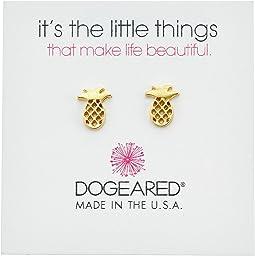 Dogeared - It's The Little Things: Open Pineapple Earrings