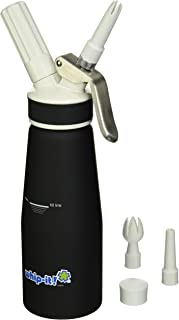 Whip-it! Pro Whipped Cream Dispenser 1/2L Rubber Coated, Black