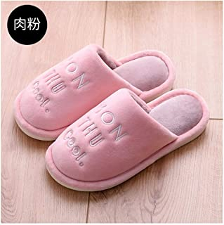 KOUY Colorful Cute Cat Closed Toe Cotton Slippers Warm Soft Indoor Shoes Non-Watertight